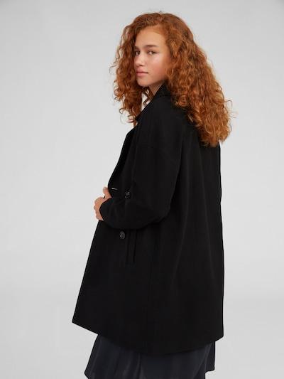 Palton de primăvară-toamnă 'Hanne' EDITED pe negru: Privire spate