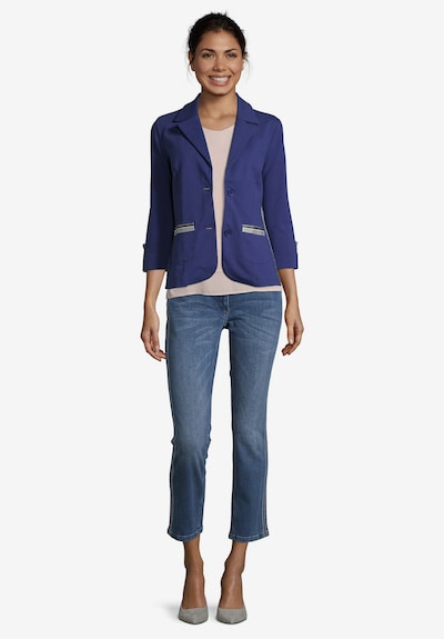 Betty Barclay Shirtjacke mit 3/4 Arm in blau, Modelansicht