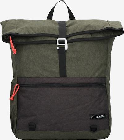 CHIEMSEE Laptoptas in de kleur Donkergrijs / Groen / Koraal, Productweergave