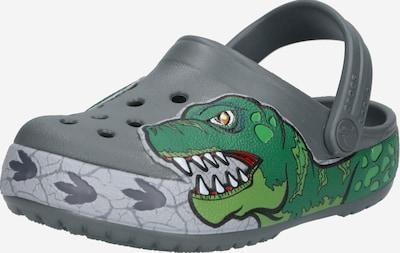 Crocs Otvorená obuv 'Fun Lab Dino Band Lights' - sivá / zelená: Pohľad spredu