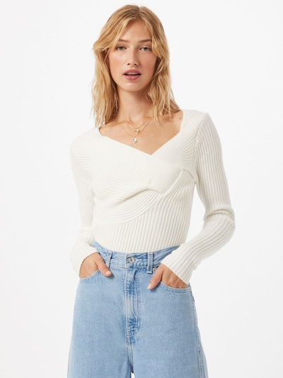 NA-KD Pullover in offwhite, Modelansicht