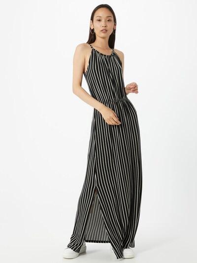 TOM TAILOR DENIM Kleid in schwarz / weiß, Modelansicht