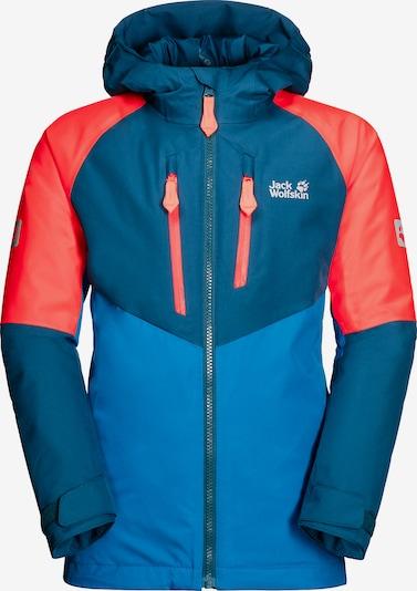 JACK WOLFSKIN Outdoorjacke 'Great' in blau / rot, Produktansicht