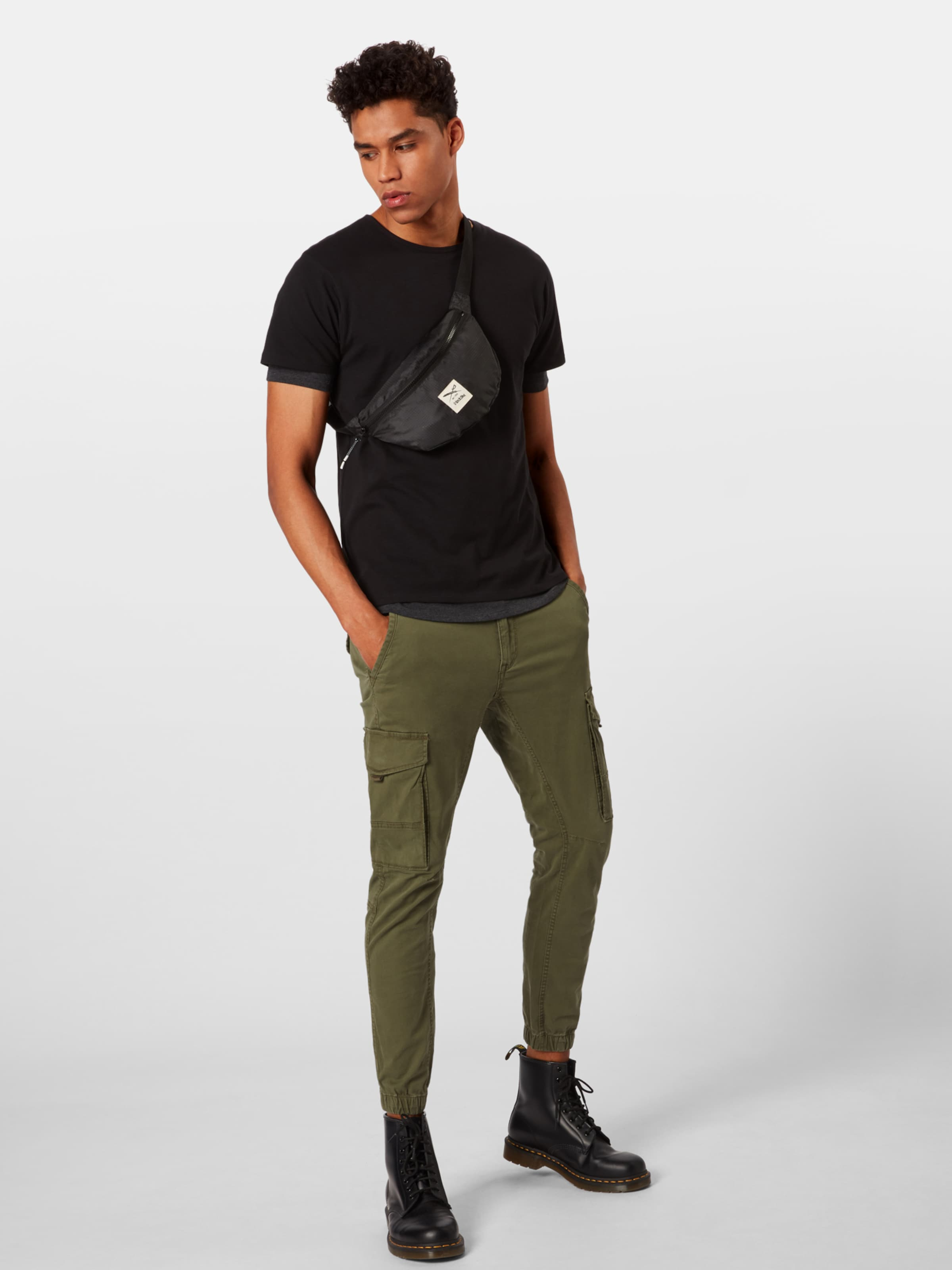 In Double shirt Classics Urban Tee' Schwarz T 'full Layered shrtQdC