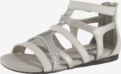 fullstop. Sandale in silber / weiß, Produktansicht