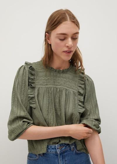 MANGO Bluse in khaki, Modelansicht