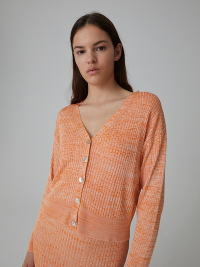 EDITED Cardigan 'Beryl' in beige / orange, Modelansicht