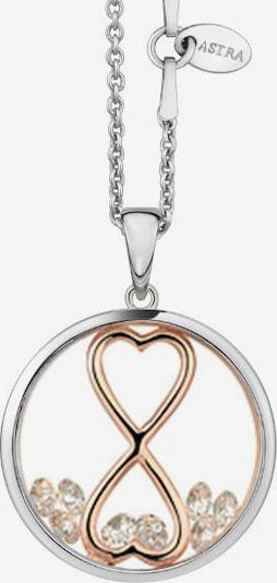 Astra Kette mit Anhänger 'INFINITY HEART' in gold / silber, Produktansicht