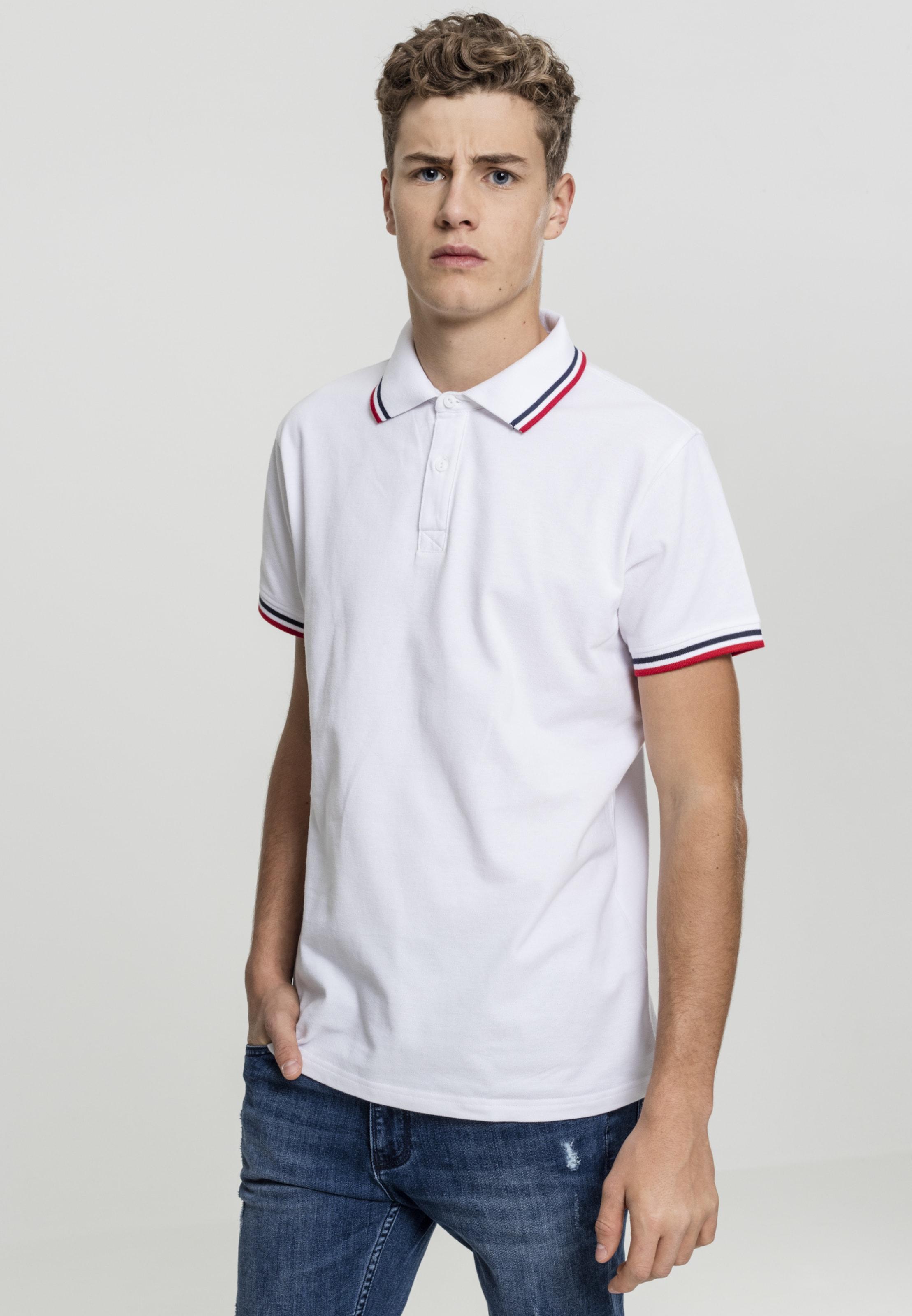 NavyRot Urban Classics In Shirt Weiß 6bgyf7