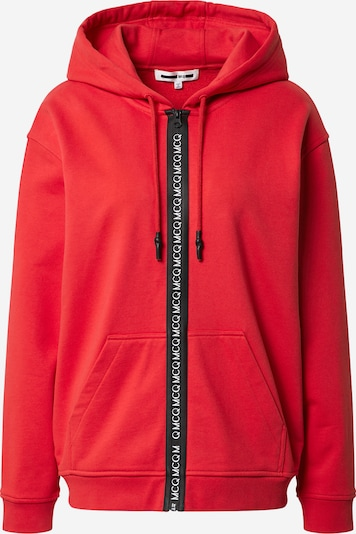 McQ Alexander McQueen Sweatjakke 'Boyfriend' i rød / sort, Produktvisning