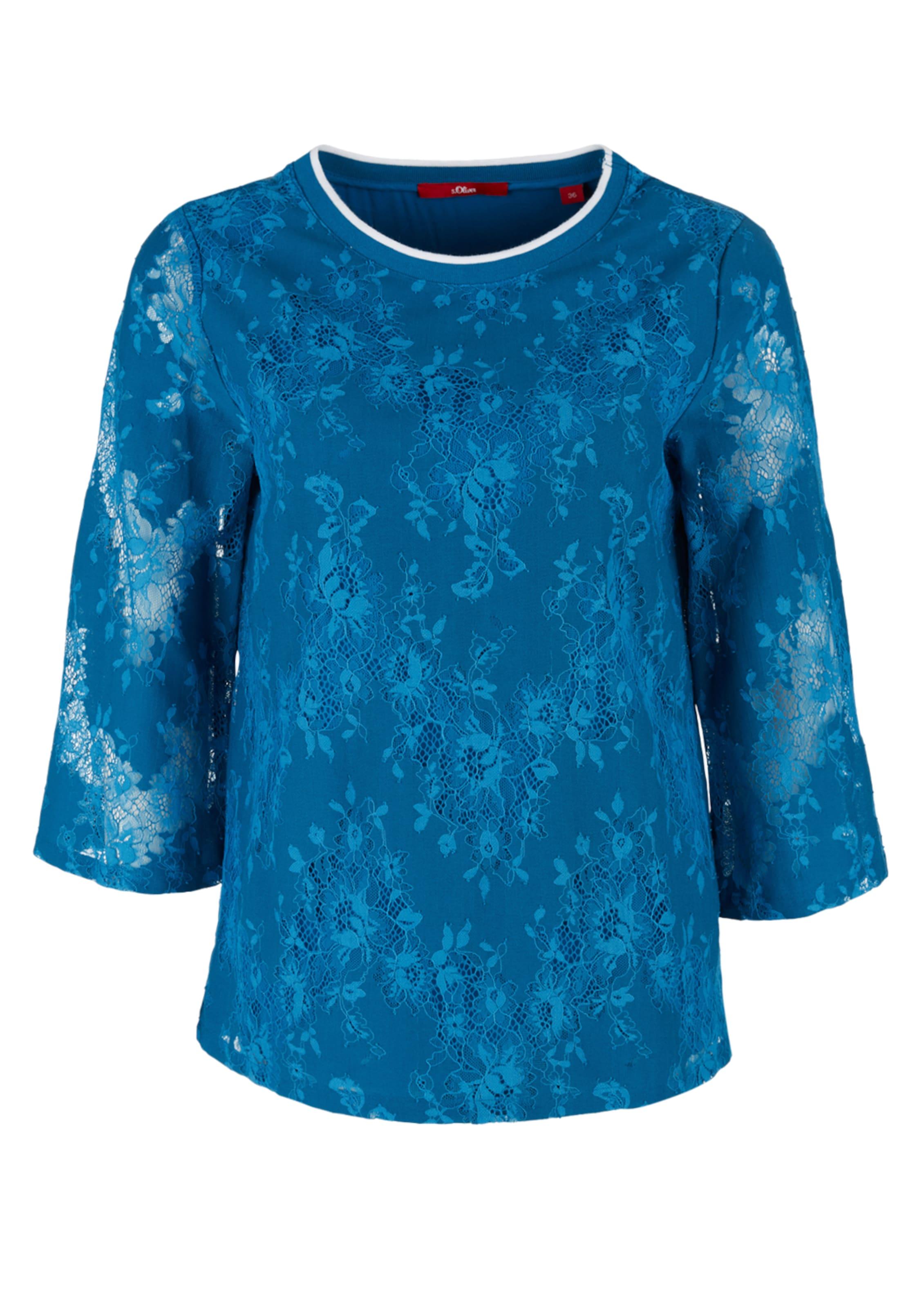 Label Red Blusenshirt Himmelblau In S oliver l1K5FJc3Tu