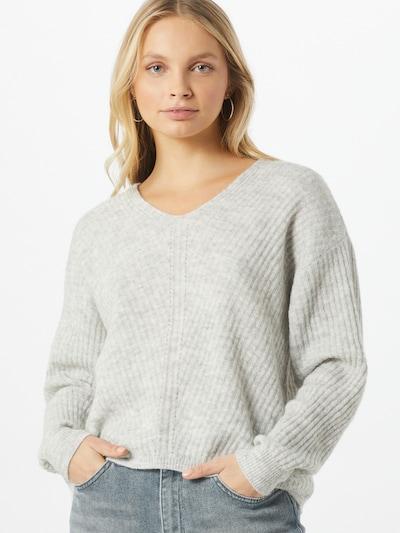 PIECES Pullover 'Sunny' in grau / hellgrau, Modelansicht