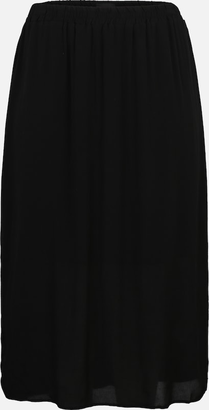 Zizzi Rock 'ELORI, LONG, SKIRT' in schwarz: Frontalansicht