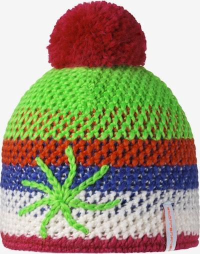 STÖHR Mütze 'ALOHA' in blau / grün / kirschrot / weiß, Produktansicht
