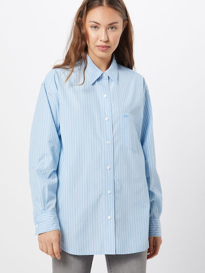LEVI'S Bluse 'THE DAD SHIRT W/ POCKET' in blau / weiß, Modelansicht