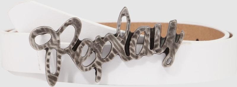 REPLAY Gürtel mit Logo-Schnalle