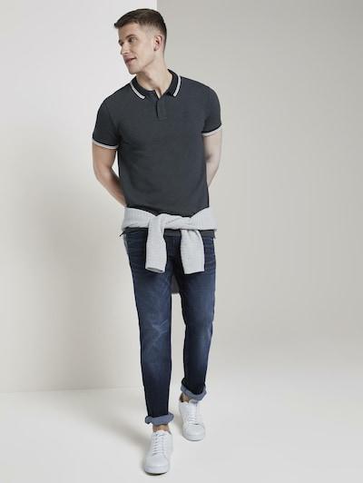 TOM TAILOR DENIM Poloshirt in blau: Frontalansicht