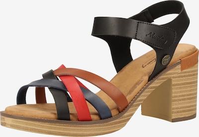MUSTANG Sandalen met riem in de kleur Bruin / Rood / Zwart, Productweergave