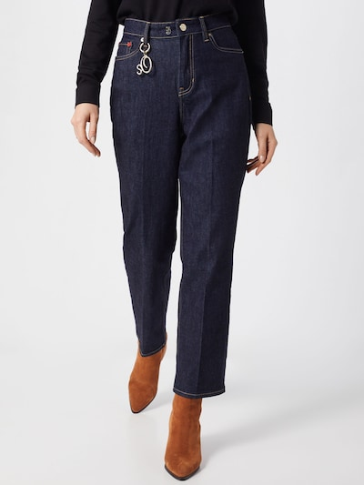 s.Oliver Jeans 'CROPPED STRAIGHT' in blue denim, Modelansicht