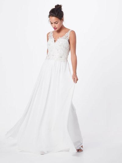 mascara Abendkleid 'LACE V' in elfenbein, Modelansicht