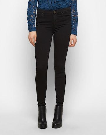 7 for all mankind Jeans 'HW SKINNY' in Zwart