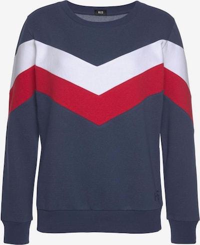 HIS JEANS Sweatshirt in navy / rot / weiß, Produktansicht