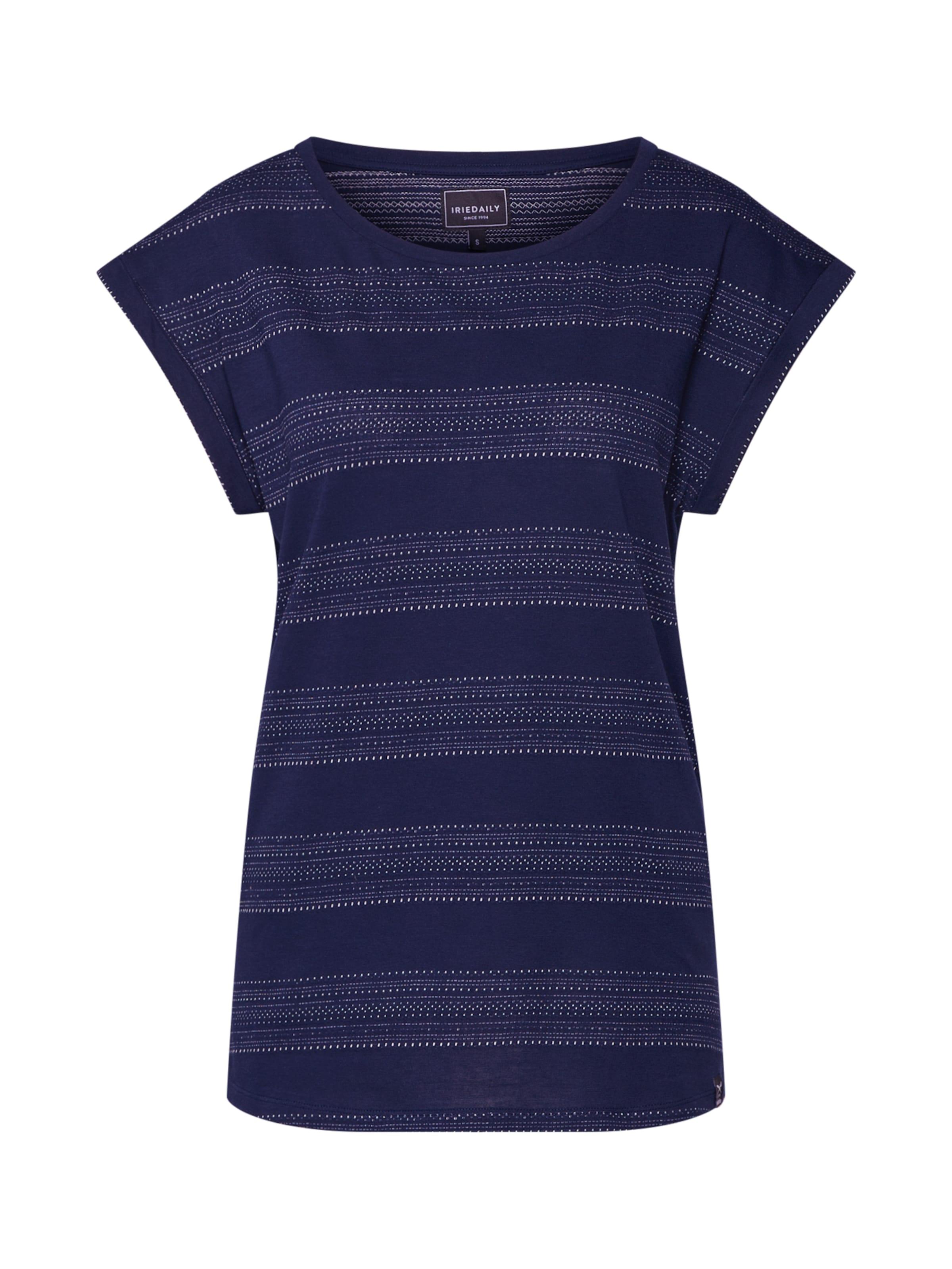 Iriedaily NavyWeiß shirt 'neila' In T OPkuXiZ