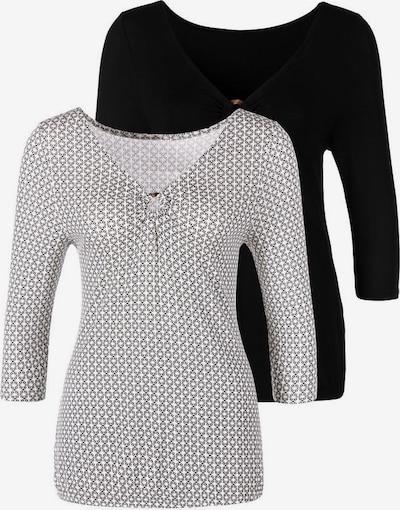 LASCANA Shirt in de kleur Zwart / Wit: Vooraanzicht