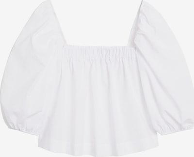 MANGO Bluse 'SLEEVES' in beige / nude / weiß / offwhite, Produktansicht