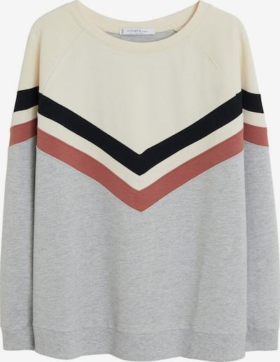 VIOLETA by Mango Sweat-shirt 'Block' en beige / gris chiné, Vue avec produit