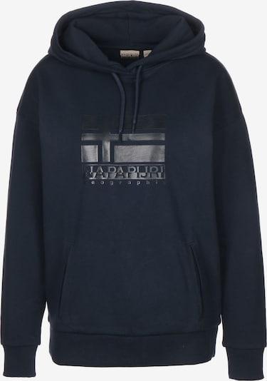 NAPAPIJRI Hoodie in dunkelblau / schwarz, Produktansicht