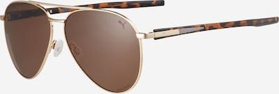 PUMA Sunčane naočale 'PU0268S-001' u tamno smeđa / zlatna, Pregled proizvoda