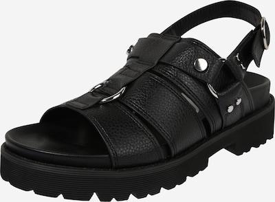 Sandale cu baretă 'JUNO' BUFFALO pe negru, Vizualizare produs