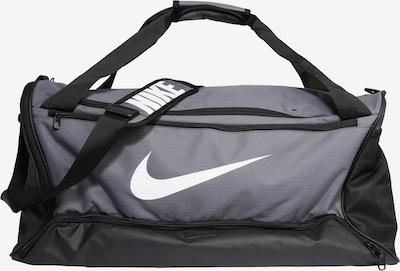 NIKE Sac de sport 'BRSLA M DUFF - 9.0' en gris / noir / blanc, Vue avec produit