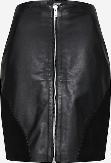 OBJECT Lederock in schwarz, Produktansicht