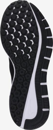 NIKE Laufschuh 'Air Zoom Structure 22' in schwarz / weiß: Ansicht von unten