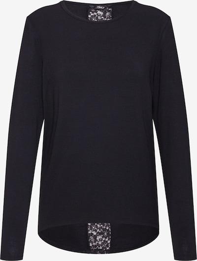 ONLY Shirt 'ONLBEA L/S LACE DETAIL TOP JRS' in de kleur Zwart: Vooraanzicht