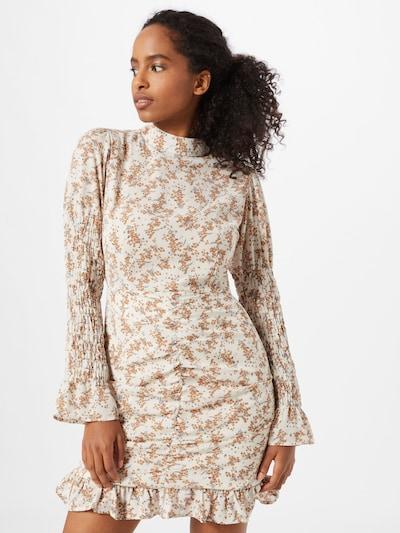 Suknelė iš Boohoo , spalva - smėlio / mėlyna / balta, Modelio vaizdas
