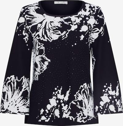 Pulover monari pe negru / alb, Vizualizare produs