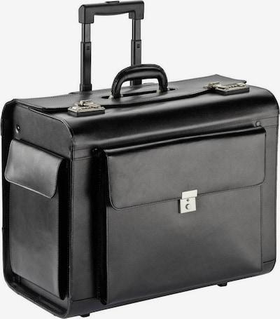 Dermata Pilotenkoffer Trolley in schwarz, Produktansicht