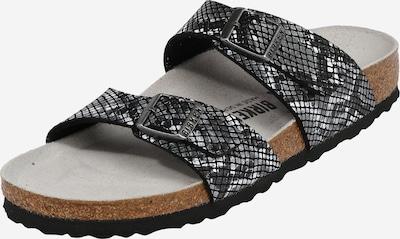 BIRKENSTOCK Pantolette 'Sydney Python' in grau / schwarz, Produktansicht
