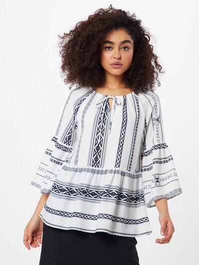 ICHI Bluse 'IHCAMILLA' in schwarz / weiß, Modelansicht