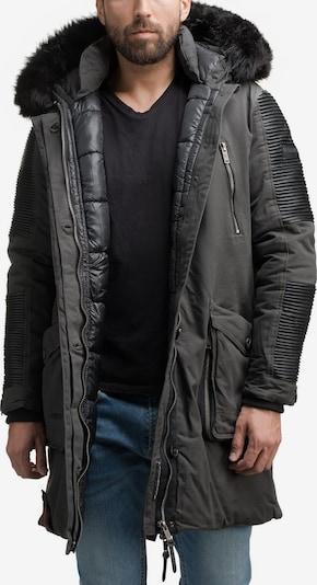 MARIKOO Wintermantel 'Warrior No 1' in dunkelgrau / schwarz, Produktansicht