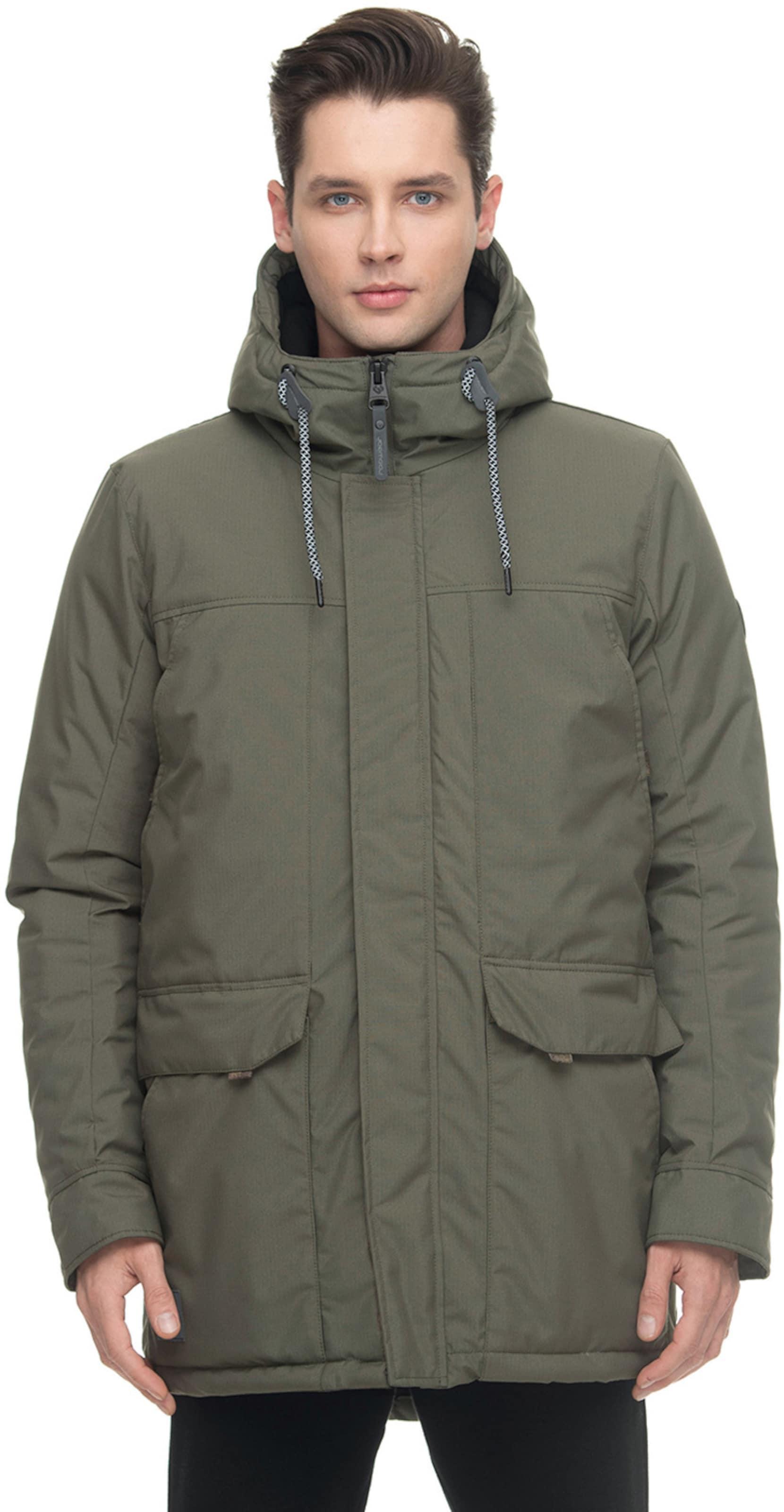 Ragwear Winterjacke ' KRISTOF ' in grün / khaki Ungefüttert KJ14O022021