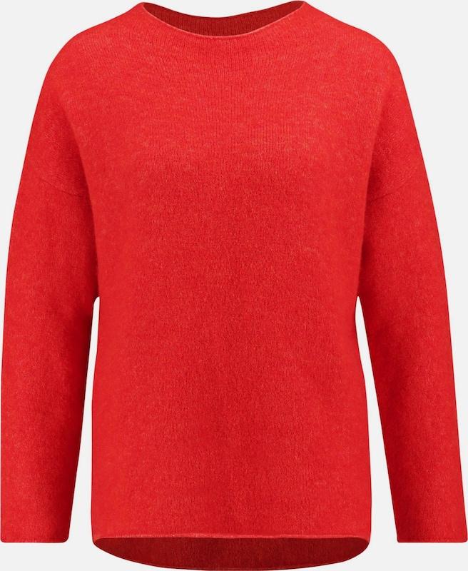 GERRY WEBER Pullover in Orangerot  Freizeit, schlank, schlank