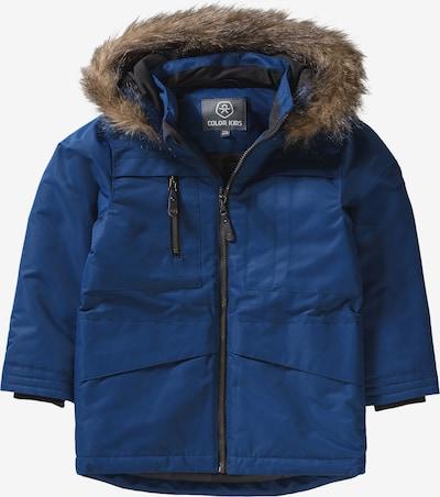 COLOR KIDS Winterparka 'Kalata' in blau / braun / schwarz, Produktansicht
