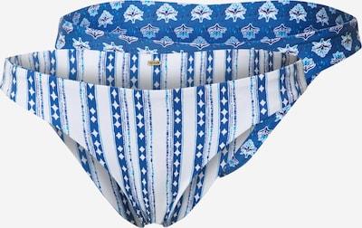 RIP CURL Bas de bikini en bleu / blanc, Vue avec produit