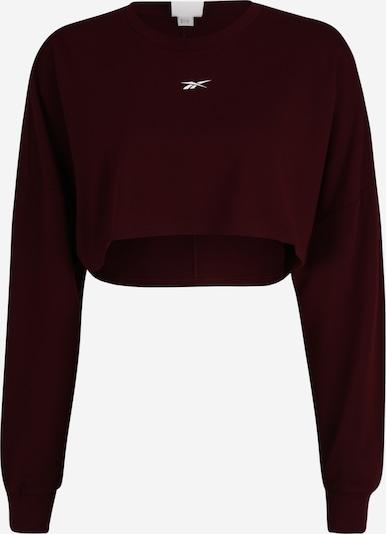 REEBOK Sweatshirt in weinrot / weiß, Produktansicht