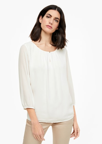 s.Oliver BLACK LABEL Bluse in weiß, Modelansicht