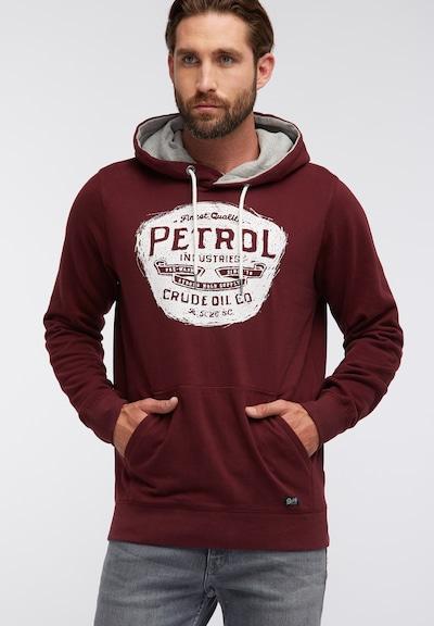 Petrol Industries Sweatshirt in de kleur Donkerrood: Vooraanzicht